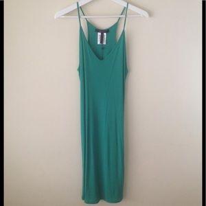 BRAND NEW BCBG Green Strappy Midi Dress